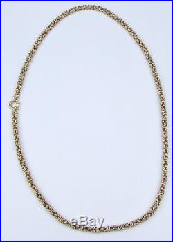 9ct 9Carat Yellow Gold Rope Linked Chain Necklace 24.75 Inch UK SELLER