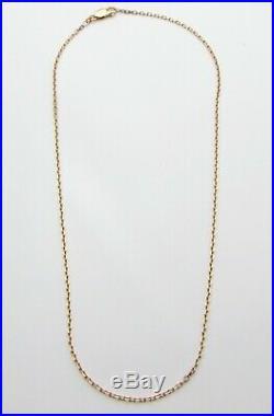 9ct 9carat Yellow Gold Belcher Chain Necklace 19.5 Inch HALLMARKED