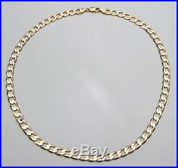 9ct 9carat Yellow Gold Curb Chain Necklace 20 Inch HALLMARKED