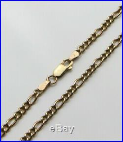 9ct 9carat Yellow Gold Figaro Curb Chain Necklace 20 Inch HALLMARKED FREEPOST