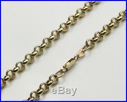 9ct 9carat Yellow Gold Heavy Belcher Chain Necklace 20 Inch HALLMARKED