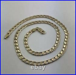 9ct / 9k / 375 Solid Yellow Gold Curb Link Chain Necklace