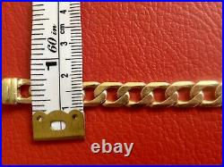 9ct 9k 375 Solid Yellow Gold and Rose Gold Two Tone Bracelet, 19.7cm, 19.46grams