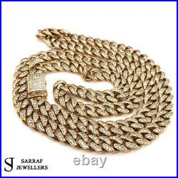 9ct CUBAN SOLID Yellow Genuine GOLD Mens Necklace 81.4gr 26 8mm CZ NEW 375