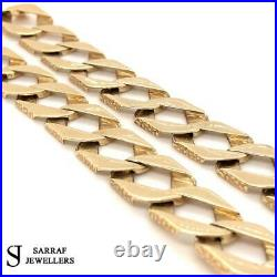 9ct Diamond Cut BOMBE Chain 375 GENUINE GOLD HEAVY Necklace 26 13mm NEW