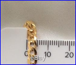 9ct GOLD 18 INCH CURB CHAIN (4MM) WITH 9ct GOLD SOLID CROSS PENDANT RRP £700 +