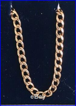 9ct GOLD 21 ROSE GOLD CURB CHAIN