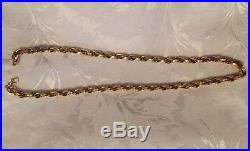 9ct GOLD 28LARGE HEAVY LONG DOUBLE BELCHER LINK PATTERNED CHAIN NECKLACE 55.5 G