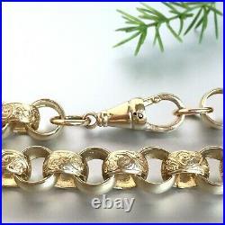 9ct GOLD BELCHER CHAIN SOLID HEAVY MEN'S 184.8g (5.84 toz) 26