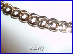 9ct GOLD CHAIN Albert Link CURB 18 18.25 inches