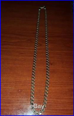 9ct GOLD CURB CHAIN Fully Hallmarked 375 43g 24Inches. RARE THIS SIZE. Superb