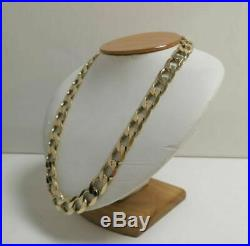 9ct GOLD CURB CHAIN HEAVY WEIGHS 118.7g 52cm 21 Inch Length Fully Hallmarked
