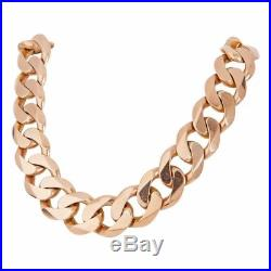 9ct GOLD CURB CHAIN NECKLACE. 25 171g 5.5oz LONG HEAVY CURB CHAIN