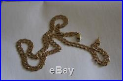 9ct GOLD CURB LINK NECKLACE CHAIN 18 1/2 inch
