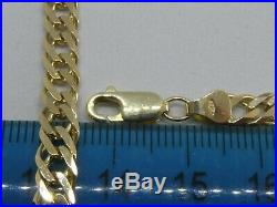 9ct GOLD DOUBLE CURB LINK BRACELET FULL ENGLISH HALLMARKS 7.0 grams 7 1/4 LONG