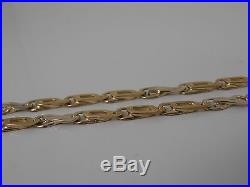 9ct GOLD FANCY LINK NECK CHAIN NECKLACE. 24 VERY UNUSUAL FANCY CHAIN