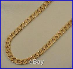 9ct. GOLD HALL MARKED SOLID CURB LINKS CHAIN 33.8 grams