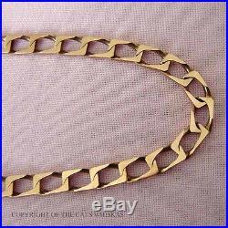 9ct GOLD HALLMARKED FLAT LINK NECKLACE WEIGHS 18.8g