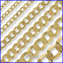 9ct Gold 16 18 20 22 24 English Rope Pow Belcher Curb Rolo Link Chain Free Box