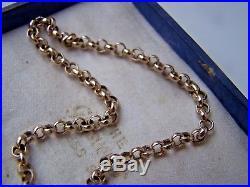 9ct Gold 16 Fancy Link Belcher Chain Necklace For Locket / Pendant Heavy 4.2g
