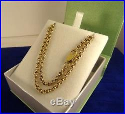 9ct Gold 19 BELCHER Chain Necklace 7gr Italy Hm cx708 Close links RRP £350