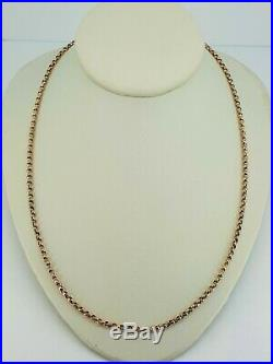 9ct Gold 19 Victorian Belcher Diamond Cut Chain Necklace Great Condition. NICE1