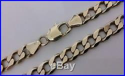 9ct Gold 21'' LARGE & VERY HEAVY Curb Link Neck Chain Necklace Cheapest Price