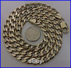 9ct Gold 21'' LARGE & VERY HEAVY Curb Link Neck Chain Necklace Ebay Cheapest