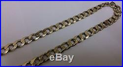 9ct Gold 21'' LARGE & VERY HEAVY Curb Link Neck Chain Necklace Fathers Day