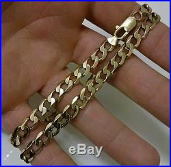 9ct Gold 21'' Large Heavy Curb Chain Necklace 30+ Grams