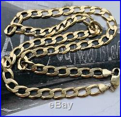 9ct Gold 22 Curb Heavy Weight Chunky Chain Vm163