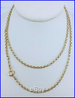 9ct Gold 29.5 Victorian Guard Muff Belcher Chain Necklace Super Condition NICE1