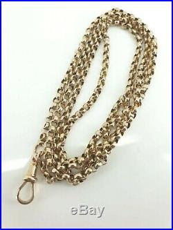 9ct Gold 30 Victorian Guard Muff Belcher Chain Necklace Super Condition. NICE1