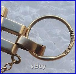 9ct Gold 375 Gate Bracelet With Safety Chain With Padlock Clasp 9.9g Not Scrap