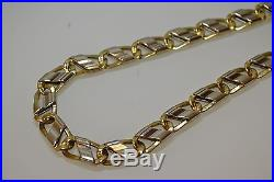 9ct Gold And White Gold Fancy Chain