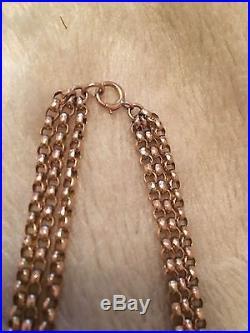 9ct Gold Antique Belcher Chain Very Heavy 22grams 18inch