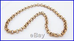 9ct Gold Belcher Chain 207g 28 Long Heavy Solid 9ct Gold Belcher Jewellery