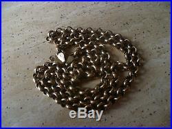 9ct Gold Belcher Chain 27g Fully Hallmarked 24 Long Not Scrap 99p Start N/R
