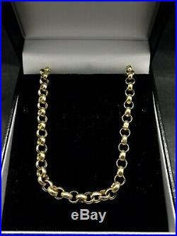9ct Gold Belcher Chain 7.9g 24