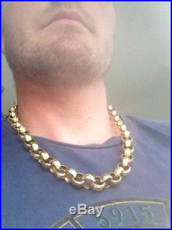 9ct Gold Belcher Chain Heavy Big 89grams