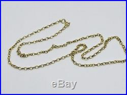 9ct Gold Belcher Chain Necklace, 22 inch, 6.0 grams