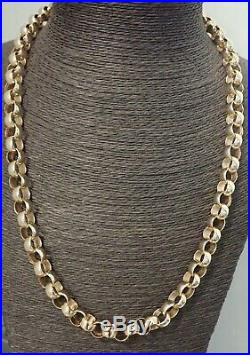 9ct Gold Belcher Chain Solid Heavy 112 grams 26- Plain Links