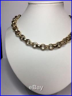 9ct Gold Belcher chain (large)