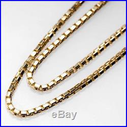 9ct Gold Box (Venetian) Chain 16-24 Fully Hallmarked UK Made