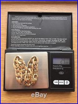 9ct Gold Bracelet. HEAVY. Chunky. 29g. Not Scrap Gold