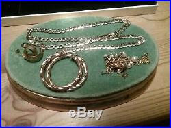9ct Gold Bundle curb chain 20 inches, earrings And some Scrap
