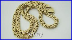 9ct Gold Byzantine Link Necklace Chain 18 3/4 in length 11.3 Grammes