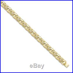 9ct Gold Cast Engraved & Polished Anchor Chain 18 inch