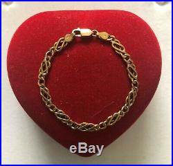 9ct Gold Celtic Bracelet 8.9g