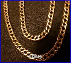 9ct Gold Chain. 20inch. 6grams. Smooth and silky feel. Wide linked chain